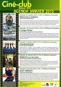 Ciné-club Agenda Janvier 2015